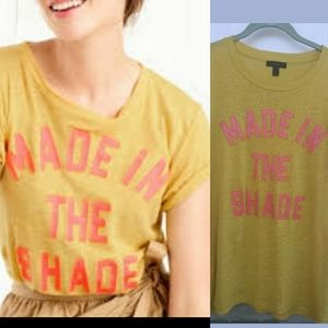 J. Crew Large Linen T-Shirt Made In The Shade